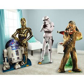 Star Wars Chewbacca, Stormtrooper and R2D2 C3PO Standup Combo Kit