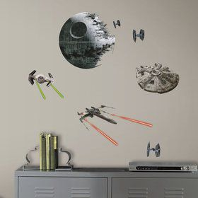 Star Wars Classic Ships Wall Decal Decoration (21 Pieces)