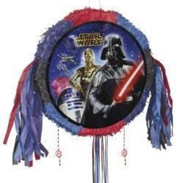 Star Wars Drum Pull Pinata (Each) - Party Supplies