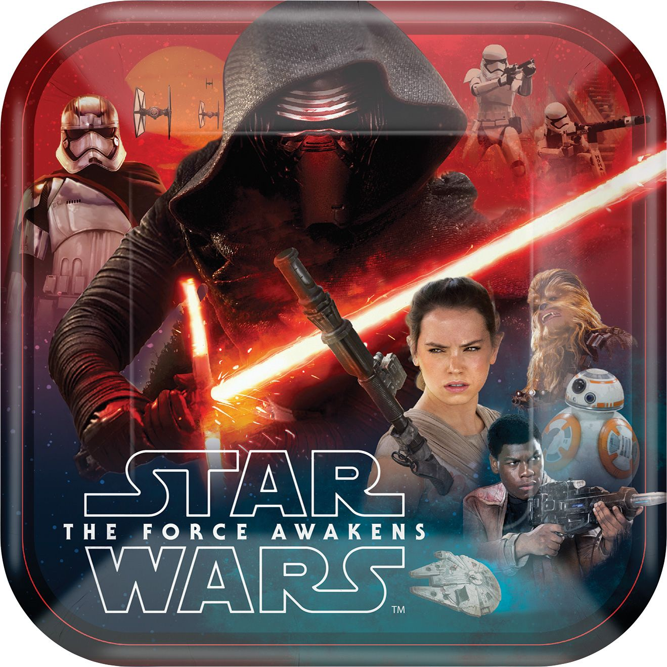"Star Wars Ep Vll 9"" Luncheon Plate (8 Count) BB551506"