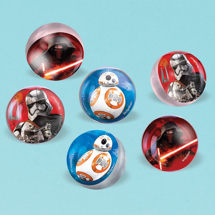 Star Wars EP Vll Bounce Balls (6 Pack) - Party Supplies BB396323