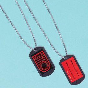 Star Wars EP Vll Dog Tags with Sticker (12 Pack)