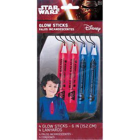 Star Wars EP Vll Glow Sticks (4 Pack)
