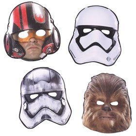 Star Wars EP Vll Paper Masks (8 Pack)