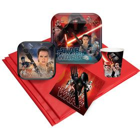 Star Wars Episode VII: The Force Awakens Deluxe Party Tableware Kit Serves 8