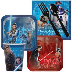Star Wars Episode VIII: The Last Jedi Standard Party Tableware Kit (Serves 8)