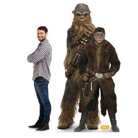 Star Wars Han Solo and Chewbacca Cardboard Standee