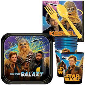 Star Wars Hans Solo Standard Tableware Kit With Plastic Favor Cups (Serves 8)