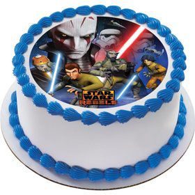 "Star Wars Rebels 7.5"" Round Edible Cake Topper (Each)"