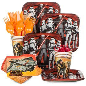 Star Wars Rebels Birthday Party Standard Tableware Kit Serves 8
