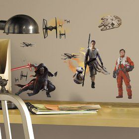 Star Wars: The Force Awakens Wall Decal Decoration (15 Pieces)