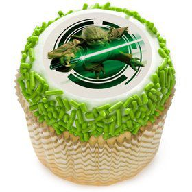 "Star Wars Yoda 2"" Edible Cupcake Topper (12 Images)"