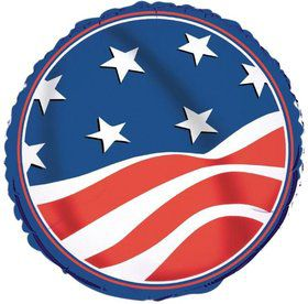 "Stars and Stripes 18"" Balloon (Each)"
