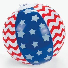"Stars and Stripes 5"" Beach Ball (3 Pack)"