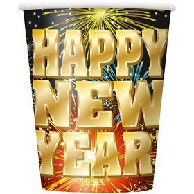 Stellar New Year 9oz Cups (8 Pack)