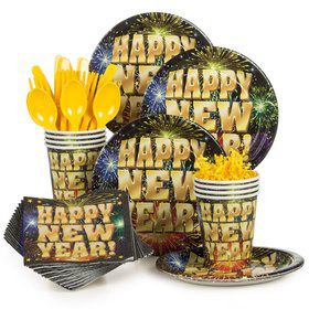Stellar New Years Party Standard Tableware Kit Serves 8