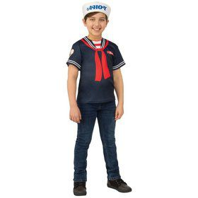Stranger Things 3 Kids Steve's Scoops Ahoy Uniform Child Costume