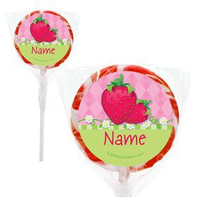 "Strawberry Friends Personalized 2"" Lollipops (20 Pack)"