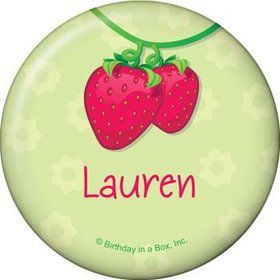 Strawberry Friends Personalized Button (each)