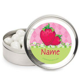 Strawberry Friends Personalized Candy Tins (12 Pack)