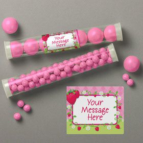 Strawberry Friends Personalized Candy Tubes (12 Count)