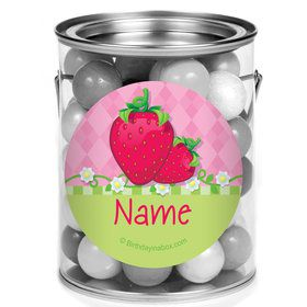 Strawberry Friends Personalized Mini Paint Cans (12 Count)