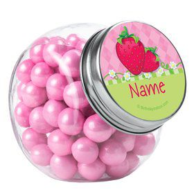 Strawberry Friends Personalized Plain Glass Jars (10 Count)