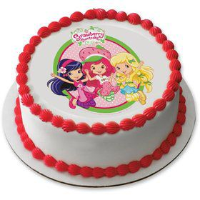 "Strawberry Shortcake 7.5"" Round Edible Cake Topper (Each)"