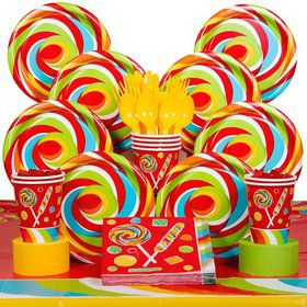 Sugar Buzz Birthday Party Deluxe Tableware Kit Serves 8