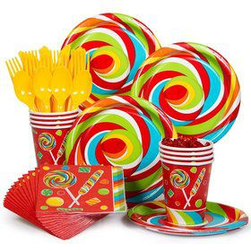 Sugar Buzz Standard Birthday Party Tableware Kit Serves 8