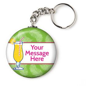 "Summer Drinks Personalized 2.25"" Key Chain (Each)"