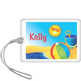 Summer Fun Personalized Bag Tag (each)