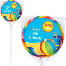 Summer Fun Personalized Lollipops (pack of 12)