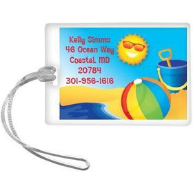 Summer Fun Personalized Luggage Tag (each)