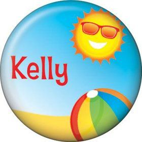 Summer Fun Personalized Mini Button (each)