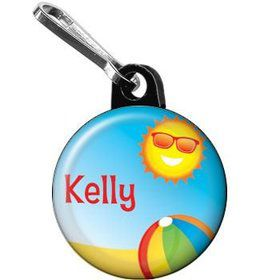 Summer Fun Personalized Mini Zipper Pull (each)