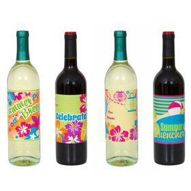 Summer Fun Wine Bottle Labels (4 Pack)