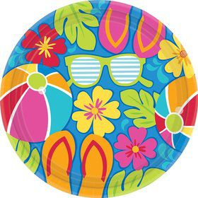 "Summer Splash 10.5"" Luncheon Plates (18 Pack)"