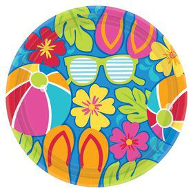 "Summer Splash 7"" Cake Plates (18 Pack)"