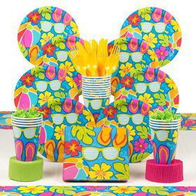 Summer Splash Party Deluxe Tableware Kit Serves 18