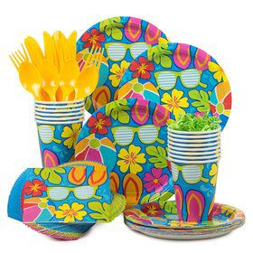 Summer Splash Party Standard Tableware Kit Serves 18