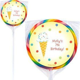 Summer Treats Personalized Lollipops (pack of 12)