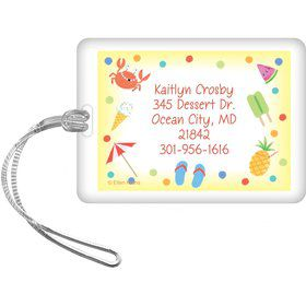 Summer Treats Personalized Luggage Tag (each)
