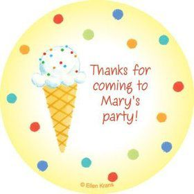 Summer Treats Personalized Stickers (sheet of 12)