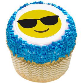 "Sunglasses Emoji 2"" Edible Cupcake Topper (12 Images)"