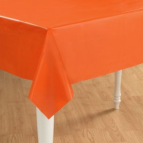Sunkissed Orange (Orange) Plastic Tablecover