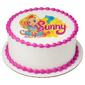 """Sunny Day 7.5"""" Round Edible Cake Topper (Each)"""