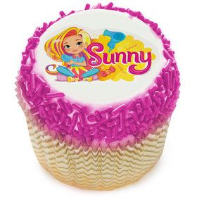 Sunny Day Edible Cupcake Topper (12 Images)