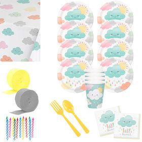 Sunshine Baby Shower Deluxe Tableware Kit (Serves 8)