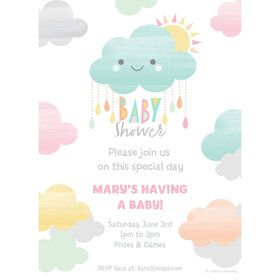 Sunshine Showers Personalized Invitation (Each)